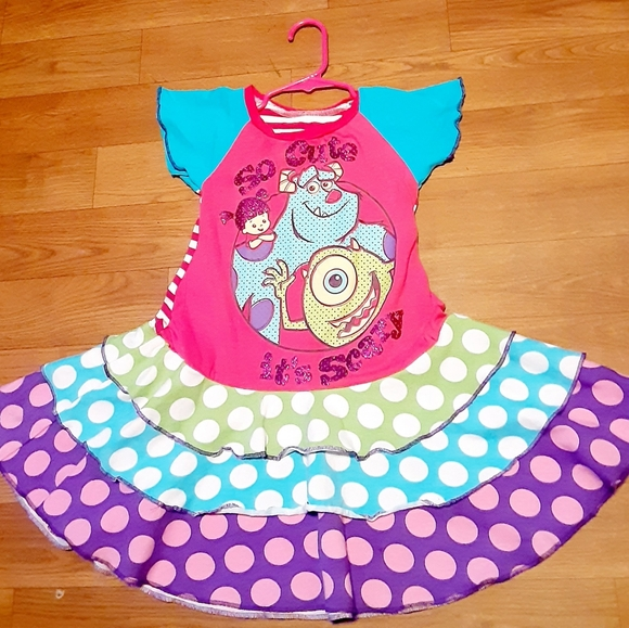 Disney Dresses 4t5t Monsters Inc So Cute Its Scary Twirl Dress Poshmark